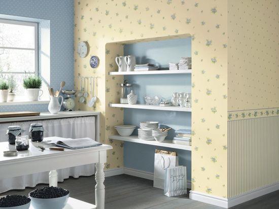 обои для кухни цвет стен на кухне фото