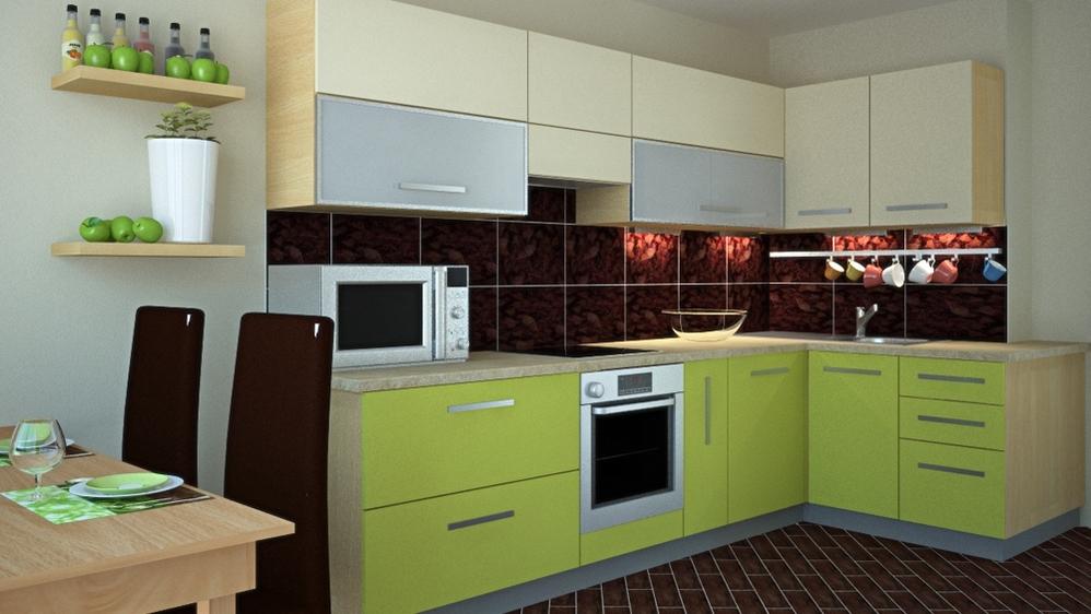 разные цвета кухонь