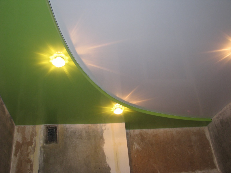 потолки на кухне фото