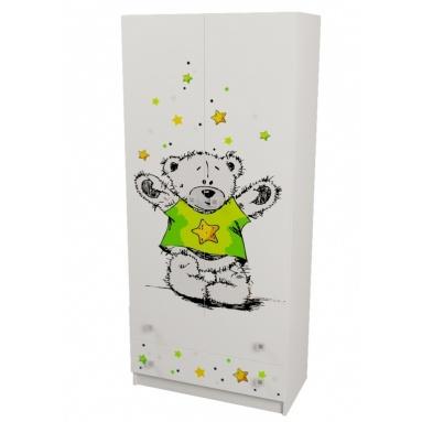 Шкаф для одежды коллекции Звездный Тедди