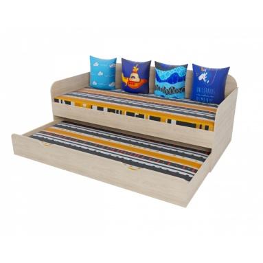2-х уровневая кровать (цвет: швейцарский вяз)