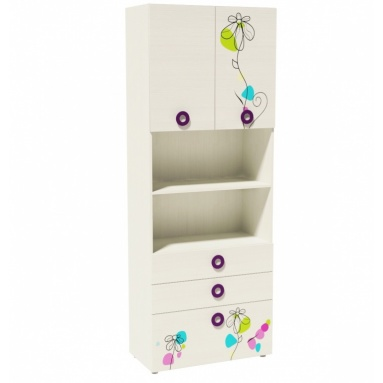 Шкаф-пенал 1 New коллекции Цветы
