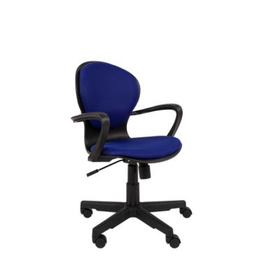 Кресло РК 14 TW-10 синий, черный пластик
