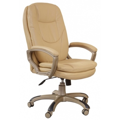 Кресло руководителя Бюрократ CH-868YAXSN/Beige бежевый искусственная кожа (пластик золото)