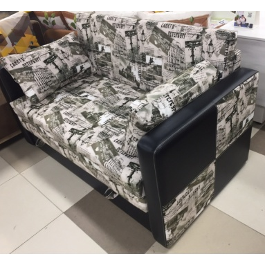 раскладной диван Лотос (ткань петербург грей)