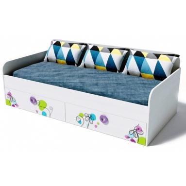 Кровать коллекции мебели Цветы-6 NEW