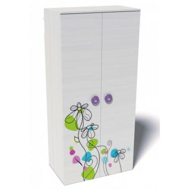 Шкаф для одежды коллекции Цветы