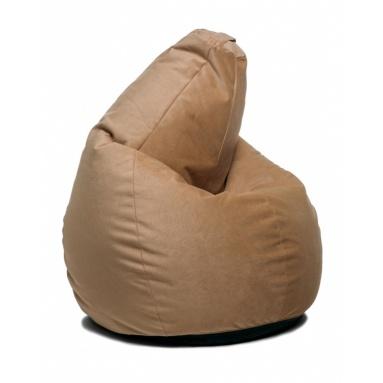 Кресло-мешок Home, Бежевый, Велюр