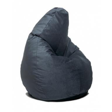 Кресло-мешок Home, Серый, Велюр