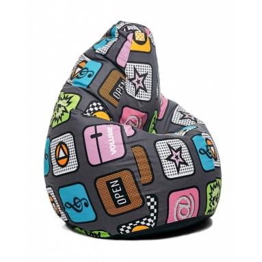Кресло-мешок Junior, Smartphone, Жаккард