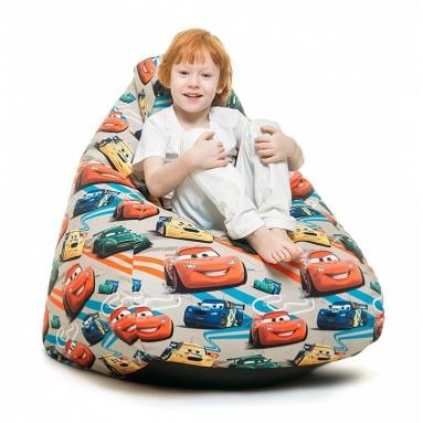 Кресло-мешок KIDS, Beige (Бежевый), Велюр