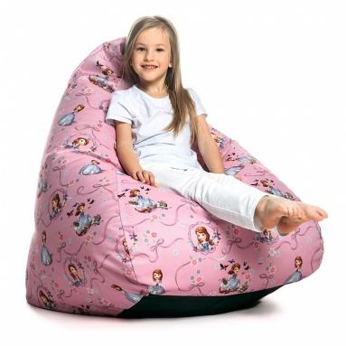 Кресло-мешок KIDS, Pink (Розовый), Велюр