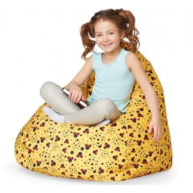 Кресло-мешок KIDS, Yellow (Желтый), Велюр