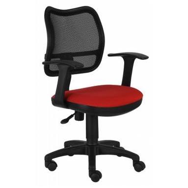 Кресло Бюрократ CH-797AXSN/26-22 спинка сетка черный сиденье красный 26-22 подлокотники T-образные