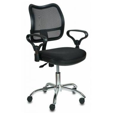 Кресло Бюрократ CH-799SL/TW-11 спинка сетка черный сиденье черный