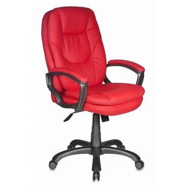 Кресло руководителя Бюрократ CH-868AXSN/Red красный искусственная кожа (пластик темно-серый)