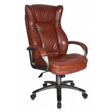 Кресло руководителя Бюрократ CH-879DG/Brown коричневый искусственная кожа (пластик темно-серый)