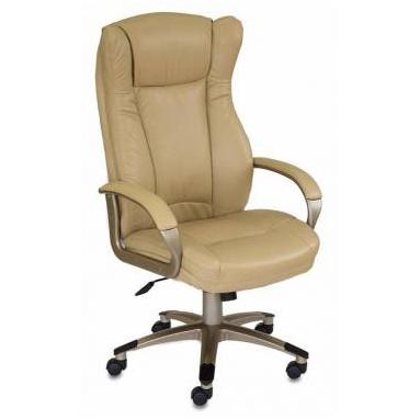 Кресло руководителя Бюрократ CH-879Y/Beige бежевый искусственная кожа (пластик золото)