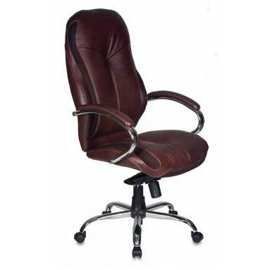 Кресло руководителя Бюрократ T-9930SL/Chocolate темно-коричневый кожа крестовина хром