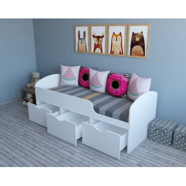 Кровать Малыш (в белом цвете)