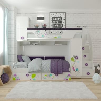 Кровать Цветы 4 + кровать Цветы 6 NEW