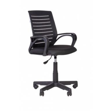 Кресло РК 16 ТОР черное, пластик черный