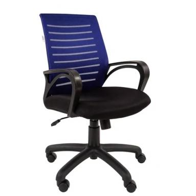 Кресло РК 16 ТОР синее, пластик черный