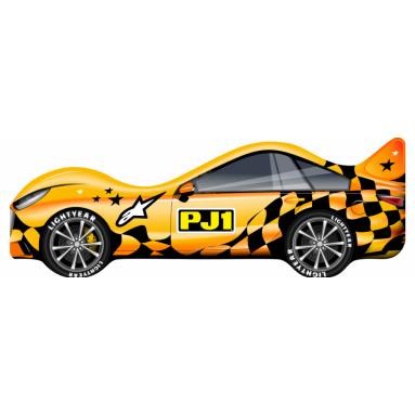 Кровать-машина PJ1 (желтая)