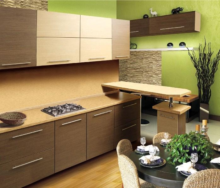 оформление интерьера кухни, цвета для кухни, кухни разных цветов, желтые, красные, коричневые, оранжевые, серые, дизайн интерьера кухни