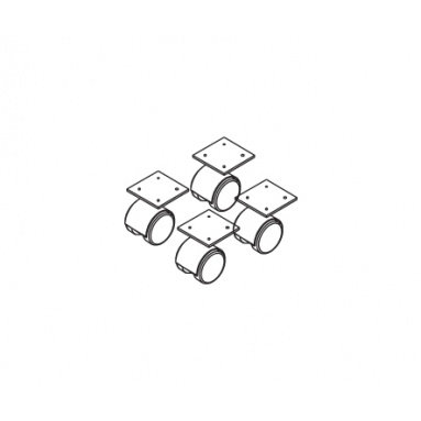Комплект колёсных опор НТК-4 (h-50)