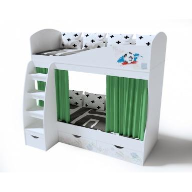 Кровать коллекции мебели Футбол 2-х ярусная