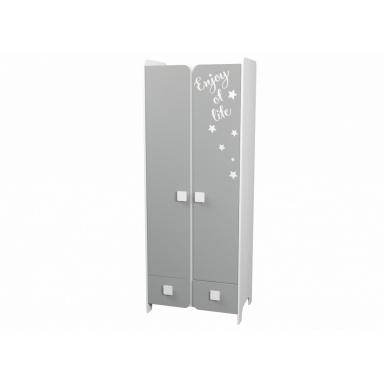 Шкаф коллекции Юниор-2 (серебро+белый)