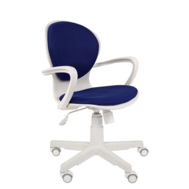 Кресло РК 14 TW-10 синий, белый пластик