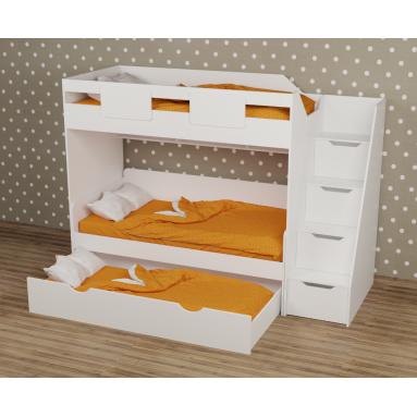 Кровать-чердак Мозаика-2 + кровать Двушка