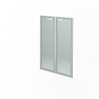 Комплект дверей стеклянных в алюм. раме НТ-601.2 СТЛ