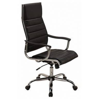 Кресло руководителя Бюрократ CH-994 черный искусственная кожа крестовина хром