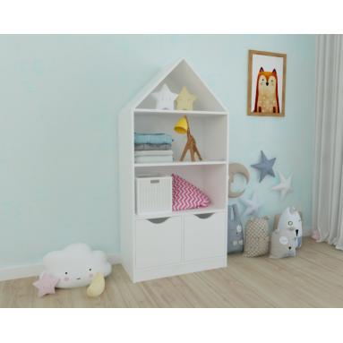Стеллаж детский Домик 3 (белый)