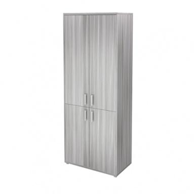 Стеллаж НТ-580 (800х445х2050) с дверьми ЛДСП НТ-600.2 и НТ-601.2