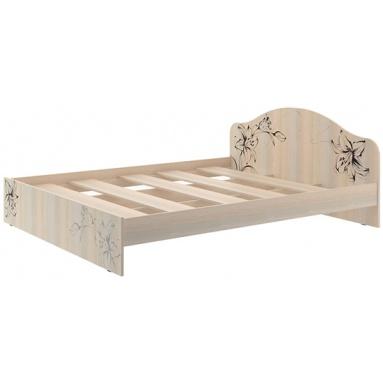 Кровать КР-2 (дуб выбеленный+уф печать)