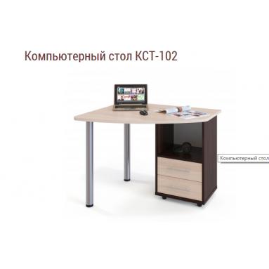 Стол КСТ-102 ЦВЕТА: дуб молочный+венге, вяз швейцарский