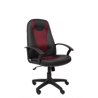 Кресло РК 183 PU TW-13 бордо экокожа\ткань