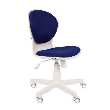 Кресло РК-14 (синее, пластик белый)