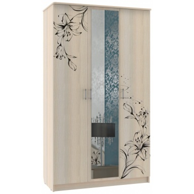 Шкаф Цветы с зеркалом