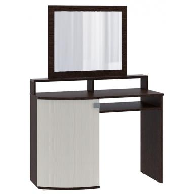 Столик с зеркалом СТ-3 (венге+дуб молочный)