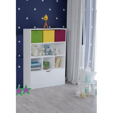 Стеллаж детский Уют-4 (белый)