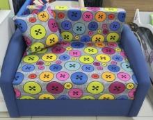 раскладной диван Даня (ткань пуговки синие)