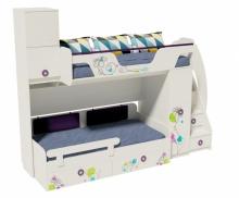 Кровать Цветы-4+Кровать Цветы-6 New (правая/левая)