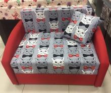 раскладной диван Даня (ткань деловые коты)