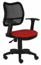 Кресло Бюрократ CH-797AXSN/26-22 спинка сетка черный красный 26-22 подлокотники T-образные