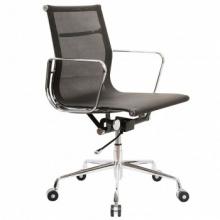 Кресло Бюрократ CH-996-Low-L/black низкая спинка черный сетка ножки хром